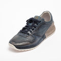 Mr.T Laced Shoes soft natural perforated leather with suede insert navy
