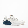 Mr.T Laced Shoes soft naturale leather and nylon white-blu