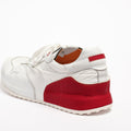 Mr.T Laced Shoes soft naturale leather and nylon white-red