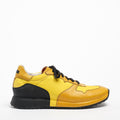 Mr.T Laced Shoes soft naturale leather and nylon yellow-black