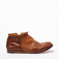 Niko Zip Mid Shoes natural vacchetta leather sigaro