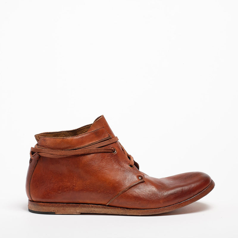 Konstantin Laced Mid Shoes natural vacchetta leather cuoio