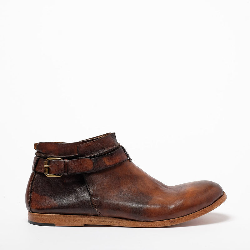 Kenny Zip Mid Shoes natural vacchetta leather terra