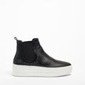 Eve Elastic Mid Shoes soft perforated leather black