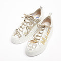 Silvie Laced Shoes soft perforated leather white