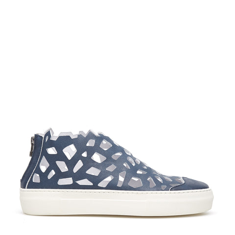 Round Matt Sneakers blue