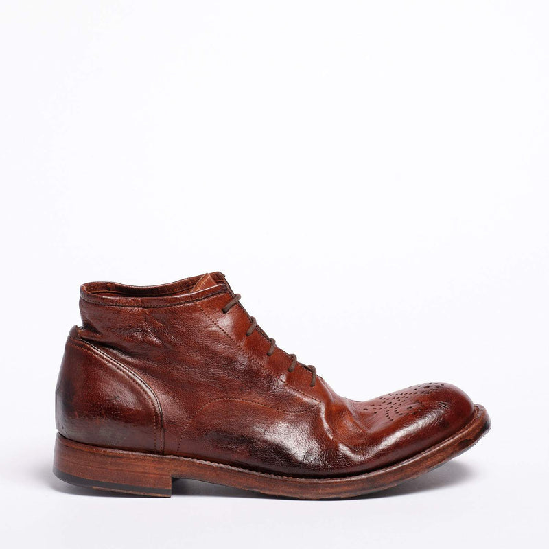 Ray Laced Mid Shoes Natural Buffalo leather rust