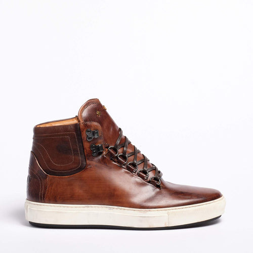 Ted Laced Mid  shoes Natural Vacchetta leather cuoio