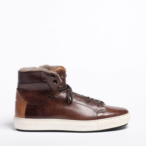 Ted Laced Mid  shoes Natural Vacchetta leatehr dark_brown