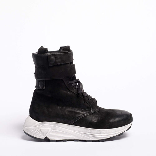 Debbie High sneaker Oiled Nabuk Black
