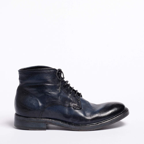 Douglas Lace Mid Shoes Natural Buffalo leather navy