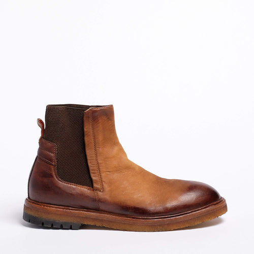 Kev Elastic Mid Boot Natural Vacchetta leather senape