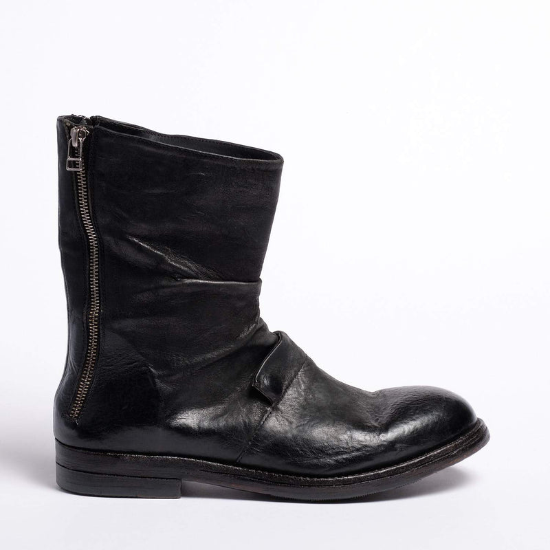 Jode Duble Zip Boot Natural Horse leather blak