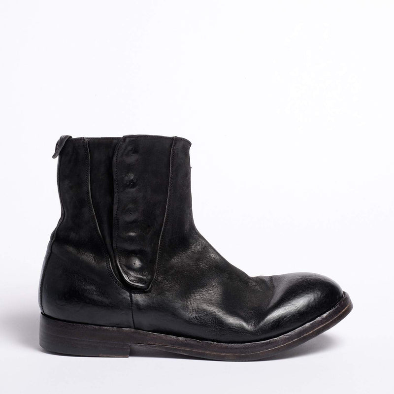 Woody Zip mid Boot Natural Horse leather black