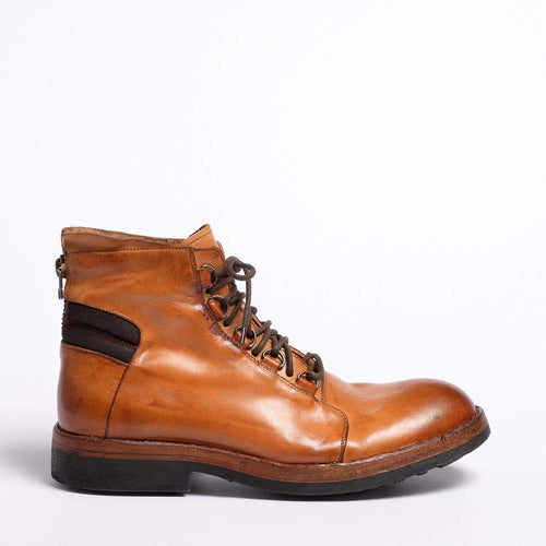 Frank Laced Mid Boot Natural Vacchetta leather cuoio