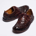 Chess brown laced shoes