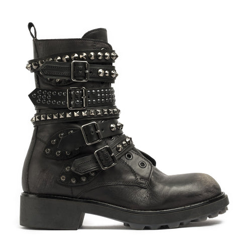 Courtney Black Biker Boots