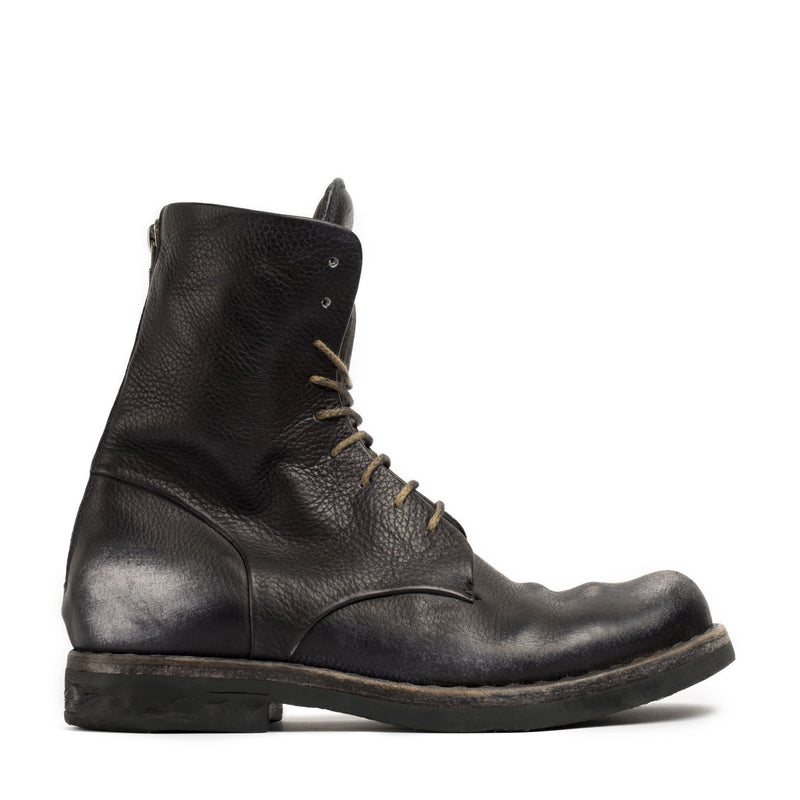 Doberman Black Military High Boots
