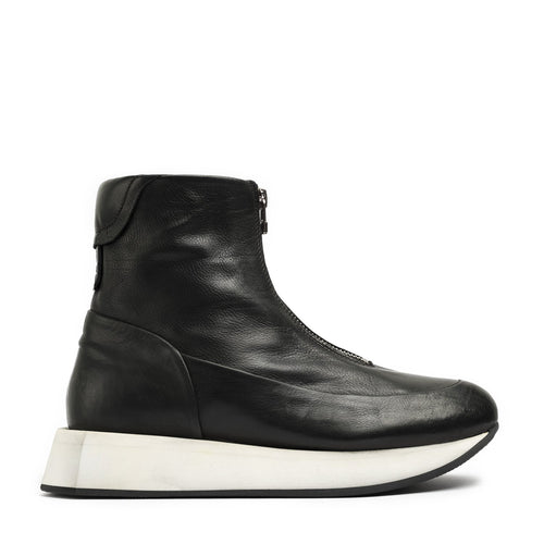 Hexagon Black High Sneakers