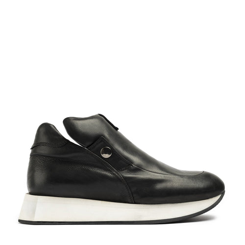 Hexagon Black Mid Sneakers