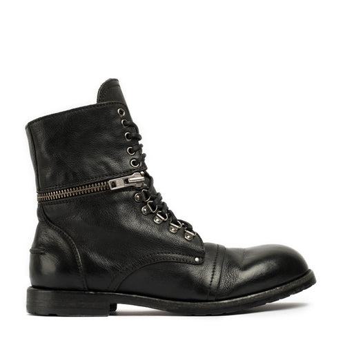 Hill Black Laced Boots