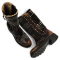 Mosaic Brown High Boots