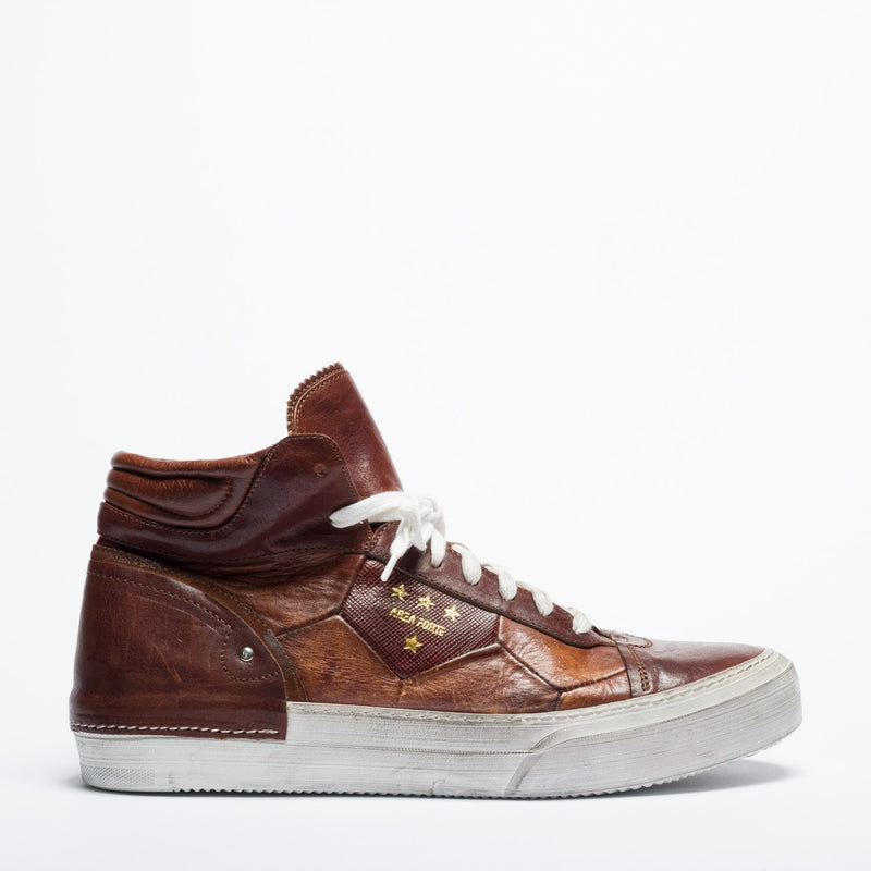 Mundialito Cold high cuoio urban sneaker