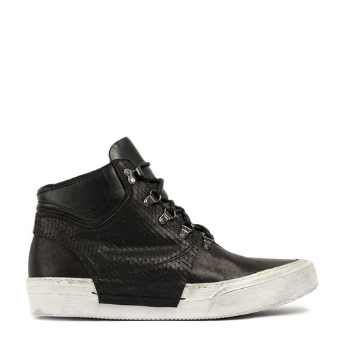 Rochelle Black Mid Laced Sneakers