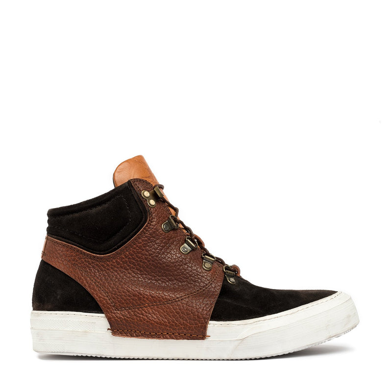Rochelle Brown Mid Laced Sneakers