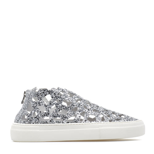 Round Sparkling Sneakers silver