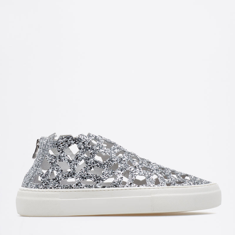 Round Sparkling Sneakers ice-white-iridiscent