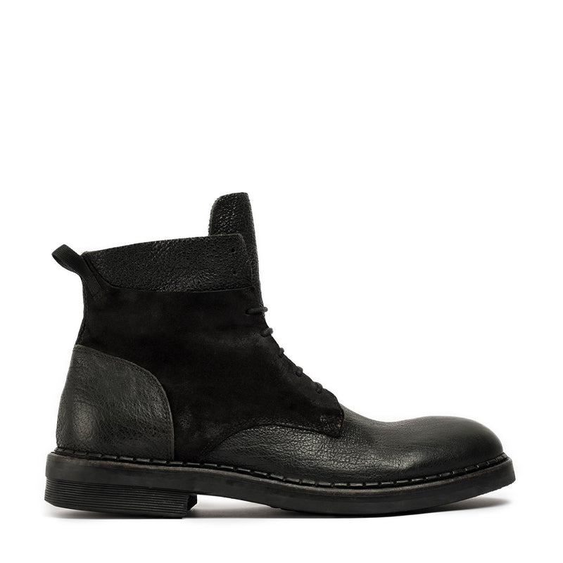 Todd Black Laced Mid Boots