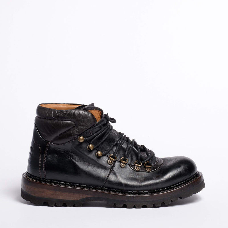 Jude Laced Mid Shoes Natural Horse leather cuoio