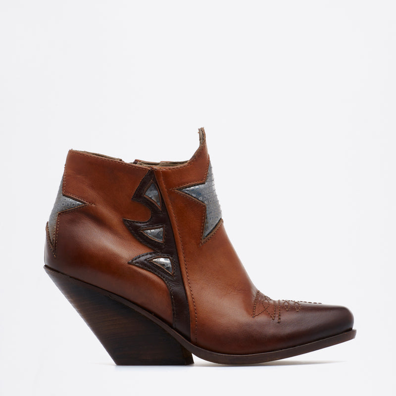 Zoe Texan Boots brown-silver