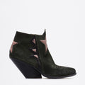 Zoe Texan Boots deep-green-pink