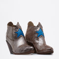 Zoe Texan Boots silver-electric-blue