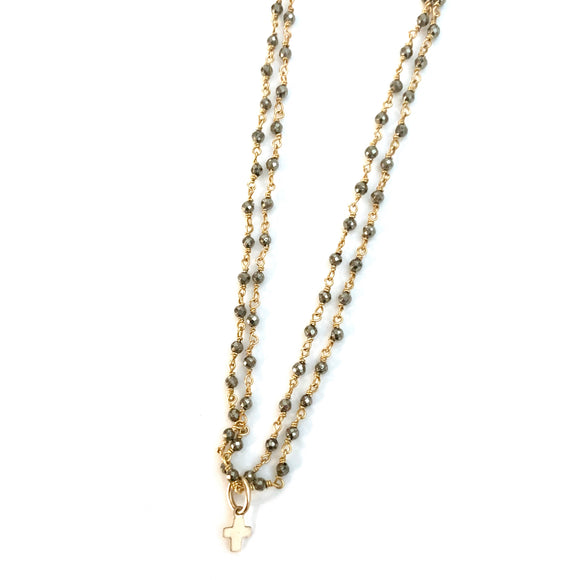 Little Luxe Cross Double Strand Necklace