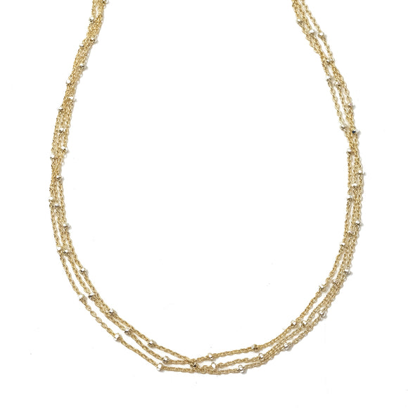 Phoebe Triple Strand Necklace