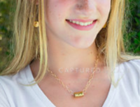 barrel on double gold necklace - gray market jewelry