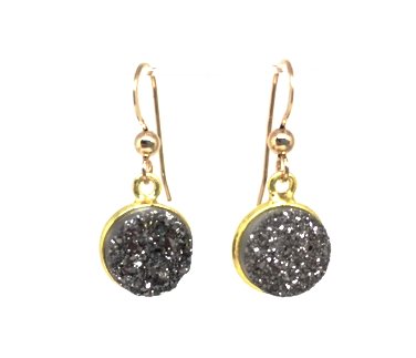 druzy spark dangle earring - gray market jewelry