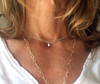 little luxe cross double strand pyrite necklace - gray market jewelry