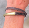 HOOKed on a CURE double wrap in brown snake - gray market jewelry
