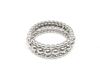 knotting hill ring stack in sterling - gray market jewelry
