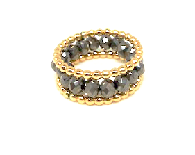 ring stack in london gray shimmer