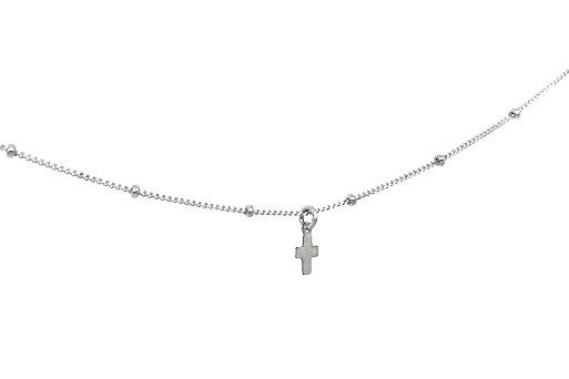 the oxford cross in sterling necklace