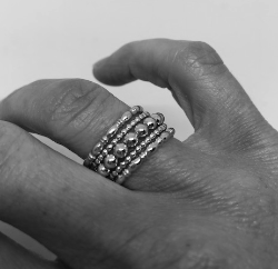 westminster ring stack in silver - gray market jewelry