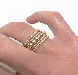 westminster ring stack in gold - gray market jewelry