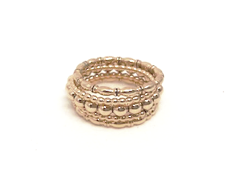 west coast ring stack in gold