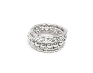 west coast ring stack in sterling