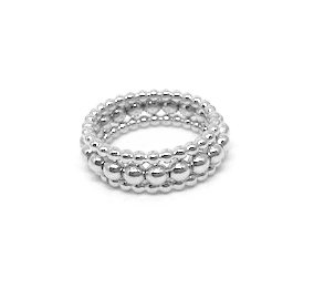 knotting hill ring stack in sterling